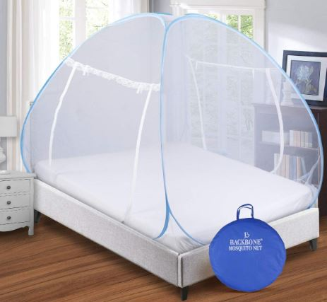 Backbone-Mosquito-Net-Foldable-King-Size-Double-Bed-with-Saviours