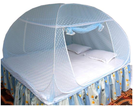 Healthy-Sleeping-Foldable-Polyester-Double-Bed-Mosquito-Net-2